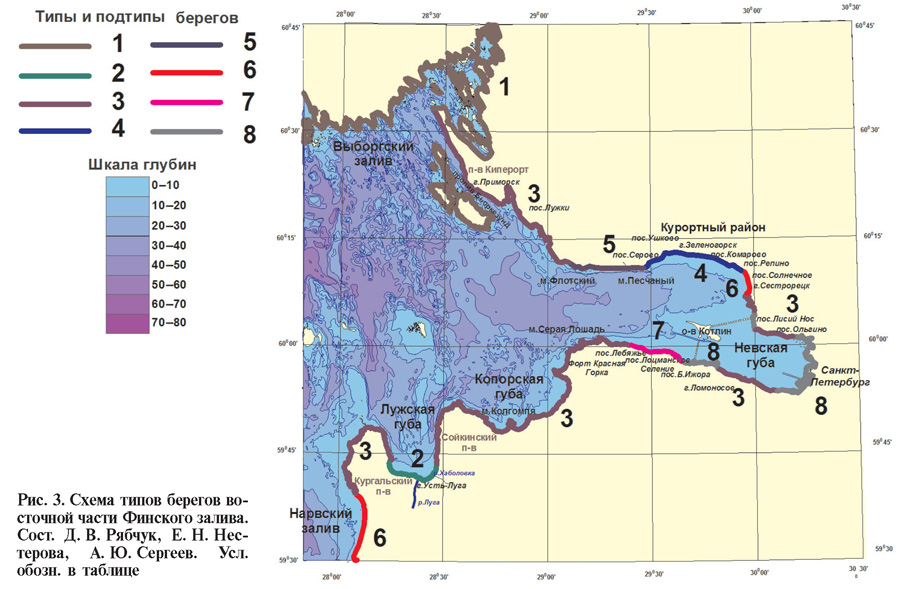 Карта глубин Финского залива