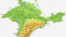 Карты Крыма