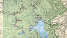 Карта Йеллоустонского национального парка