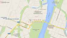 Карта Великого Новгорода