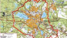 Дорожная карта Екатеринбурга