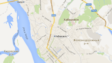 Карта Хабаровска