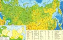 Карта России не без; городами
