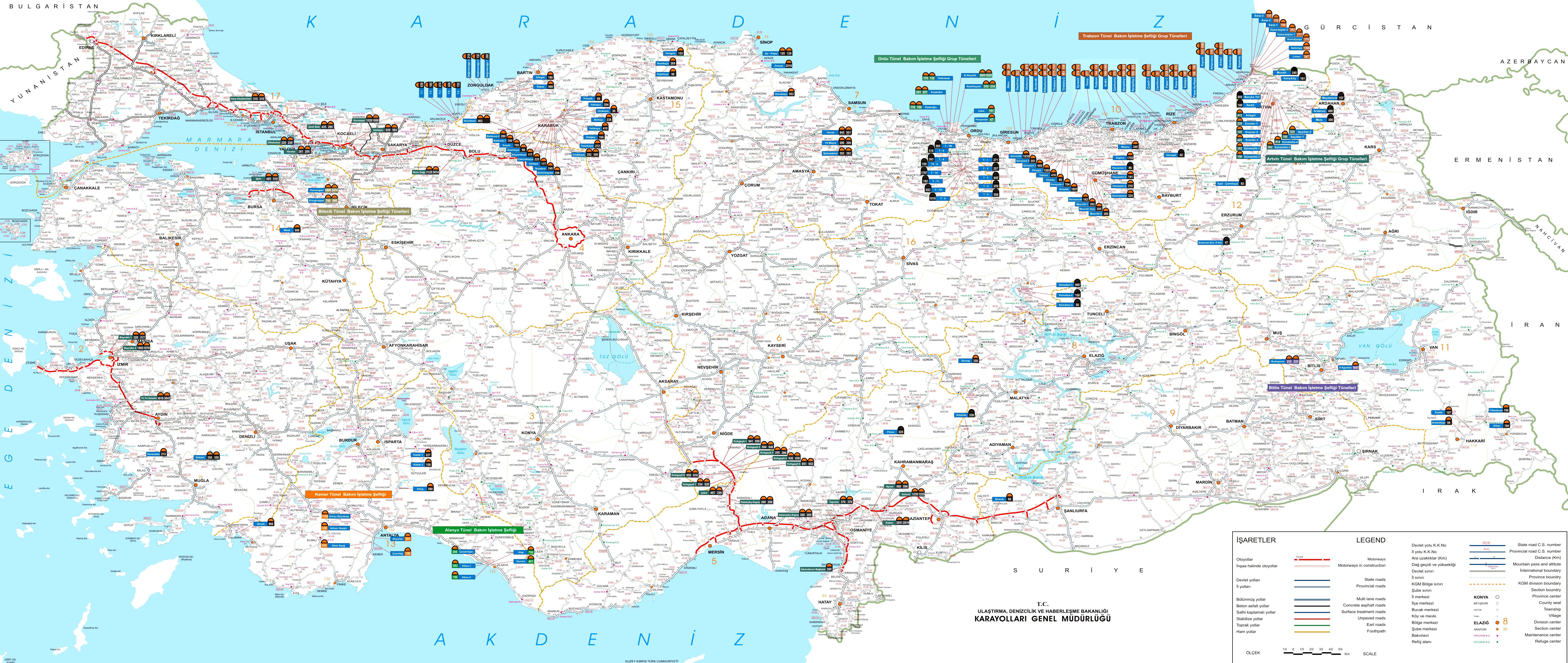 Подробная карта турции