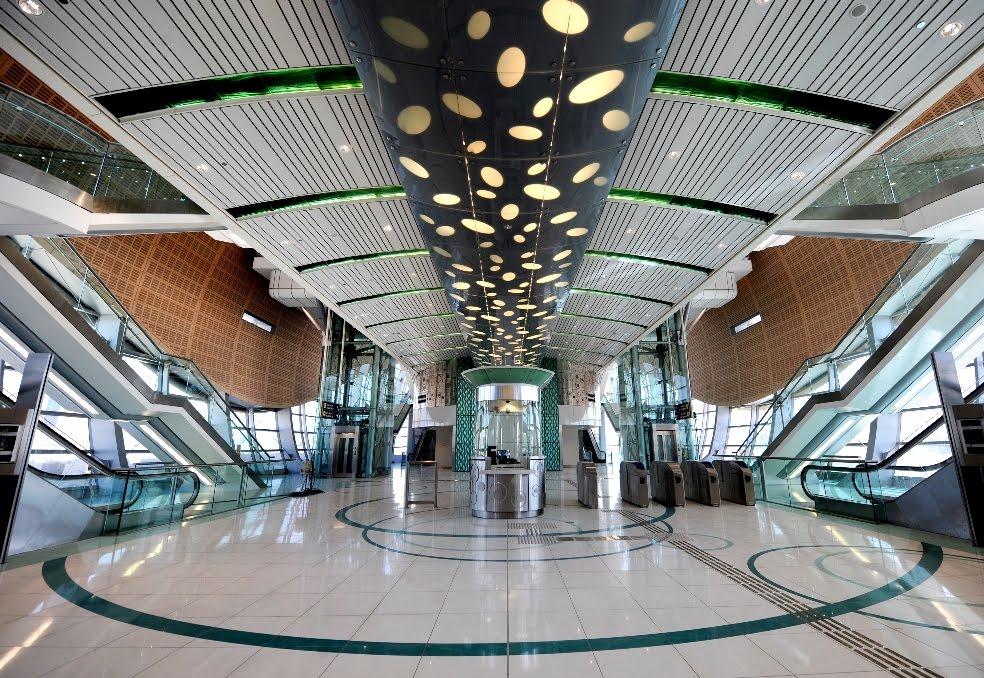 Схема Дубайского метро