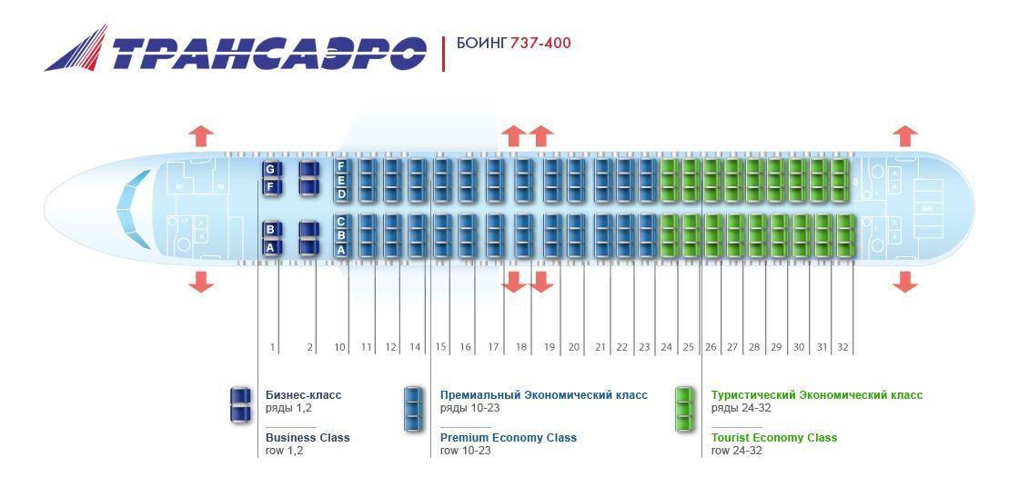 План самолета боинга 737