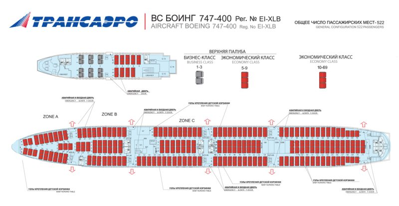 747 200 трансаэро схема 100