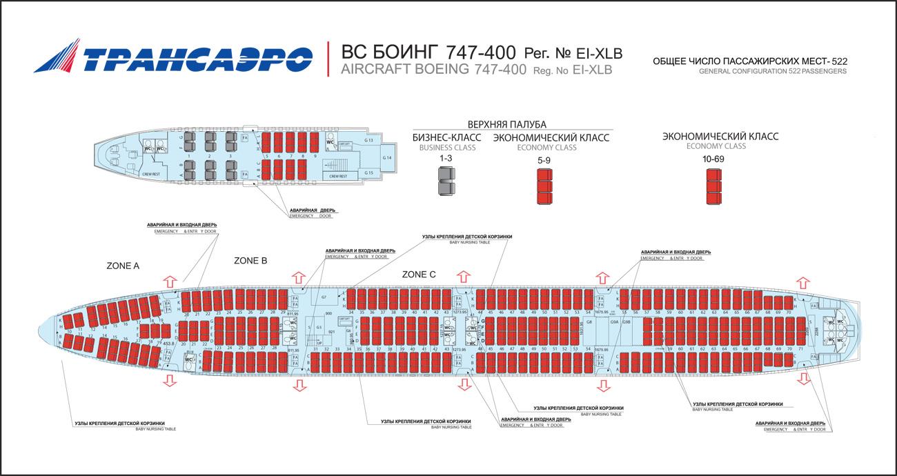 Схема боинг 747 200 трансаэро фото 395